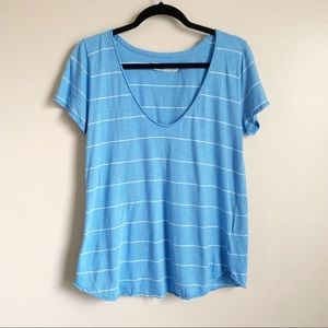 Abercrombie & Fitch• chunky blue striped tee